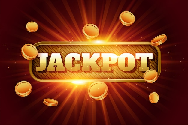 Jackpot background with flying golden coins