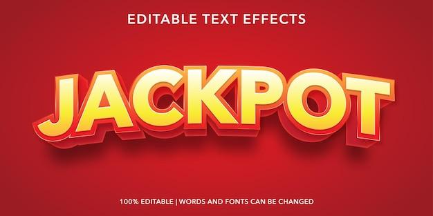 Jackpot editable text effect Premium Vector