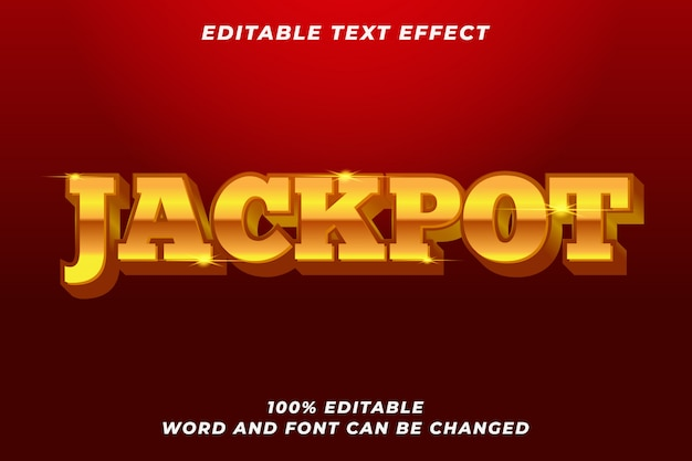 Джекпот золотой стиль текста эффект премиум
