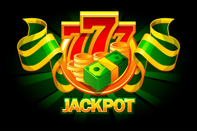 Jackpot icon with coins, money. casino awards