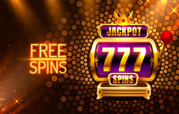 Jackpot king раскручивает 777 баннеров казино на золотом фоне