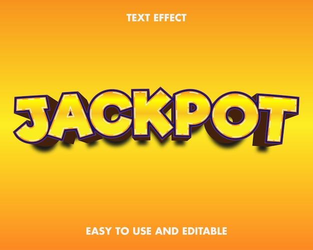 Jackpot text effect. editable font style.