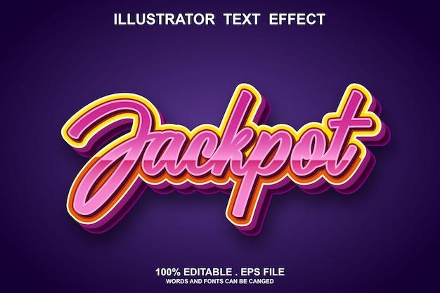 Jackpot text effect editable