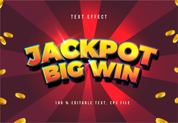 Jackpot text effect