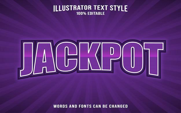 Jackpot text style Premium Vector