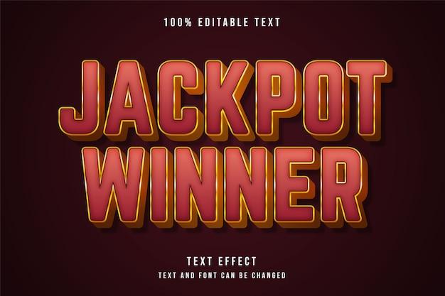 Jackpot winner  editable text effect