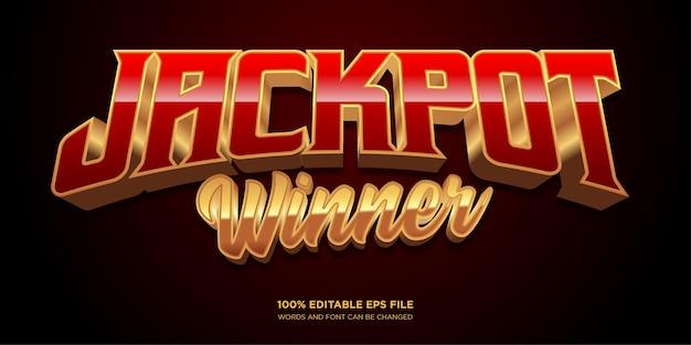 Jackpot winner text style effect