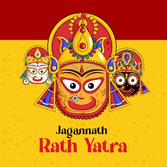 Jagannath rath yatra バナー テンプレート デザイン
