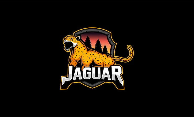 Jaguar logo emblem   illustration
