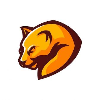 Шаблон логотипа эмблемы jaguar / panther esport