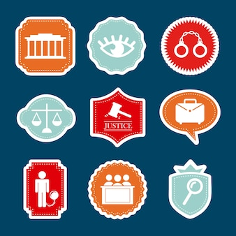 Jail icons over blue background vector illustration