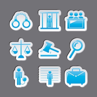 Jail icons over gray background vector illustration