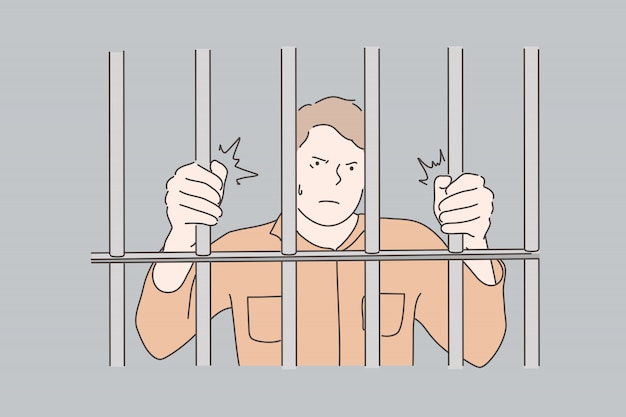 Jail, prisoner, crime concept