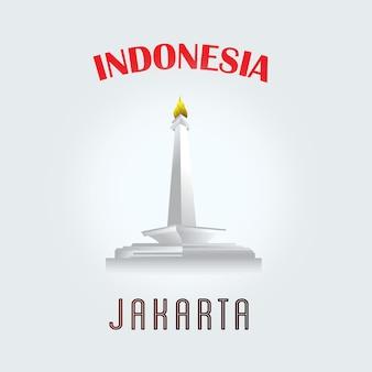 자카르타 시 인도네시아 벡터