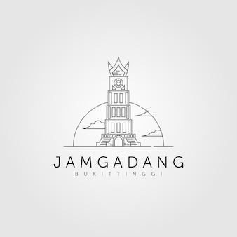 ジャムガダンラインアートロゴデザイン、ジャムガダンブキティンギlandamrk