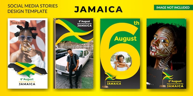 Jamaica independence day social media stories banner