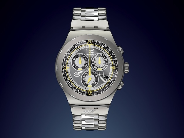 James bond wrist watch vector