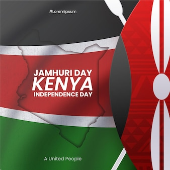 Jamhuri day event illustrated in realistic style