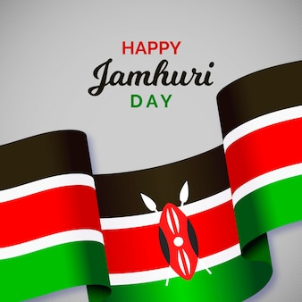 Jamhuri day event with flag