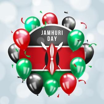 День джамхури с реалистичными воздушными шарами