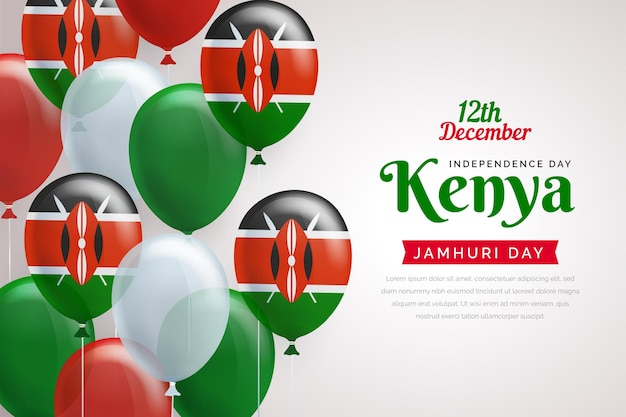 Jamhuri day with realistic balloons