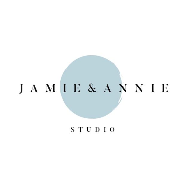 Jamieとannieのスタジオロゴベクトル