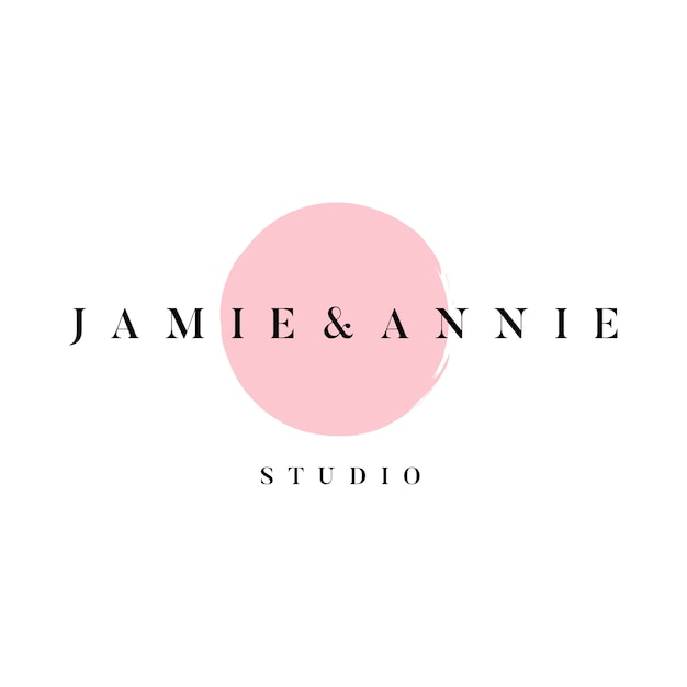 Логотип эмблемы jamie и annie
