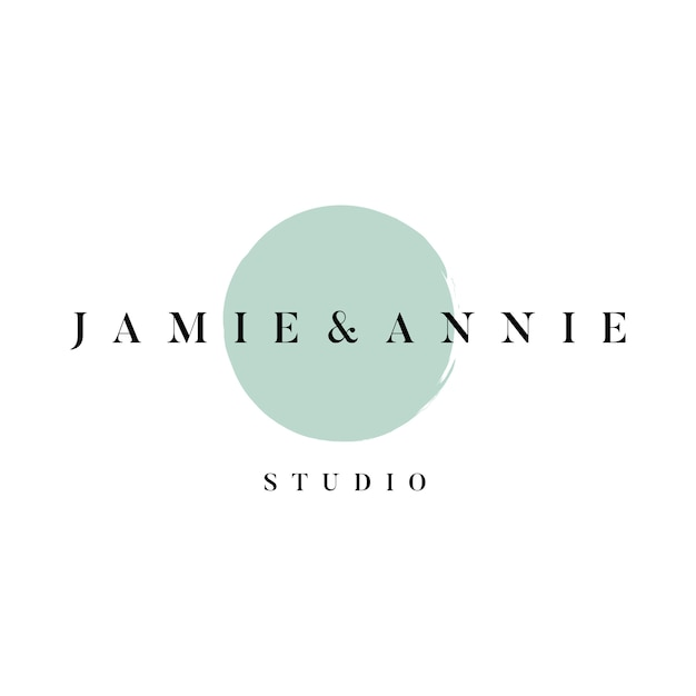 Jamie and annie studio logo vector