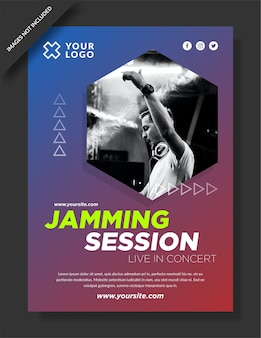 Jamming session banner and social media post