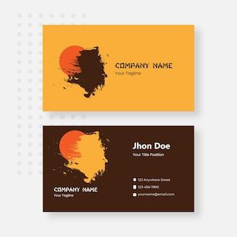 Japan business card design template