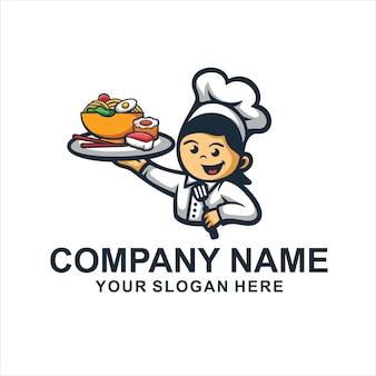 Логотип шеф-повара японии