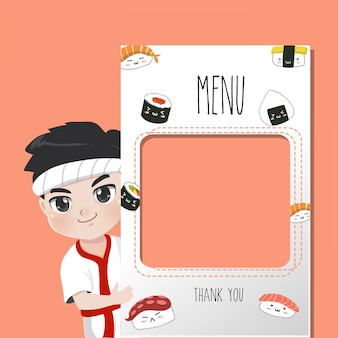 Japan chef recommends food menu,