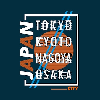 Japan city abstract design