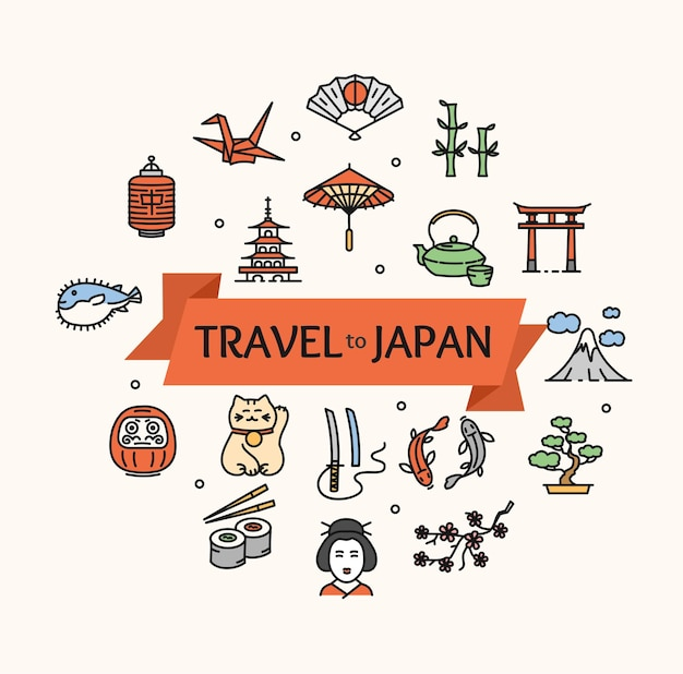 Japan concept travel. ready for your business. vector illustration