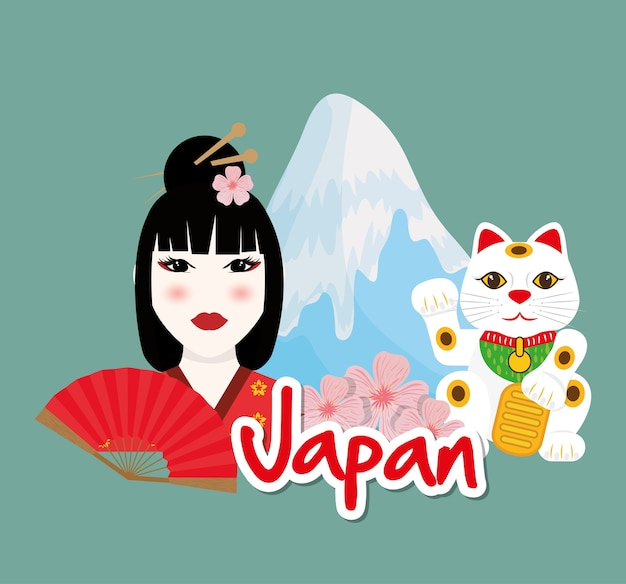 Japan concept with icon design