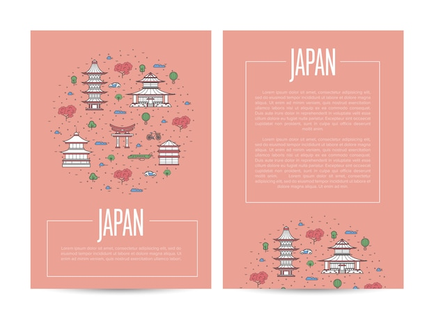 Japan country traveling poster template