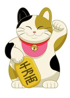 Japan cute maneki neki cat