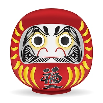 Японская кукла «дарума» перевод на тело «фортуна»