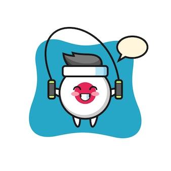 Japan flag badge, cute style design for t shirt, sticker, logo element