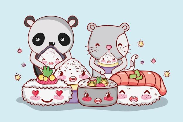 日本の食べ物や動物のかわいい
