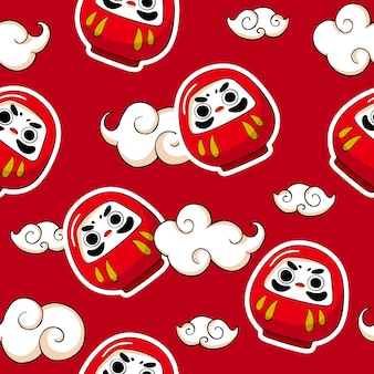 Japan kawaii seamless pattern