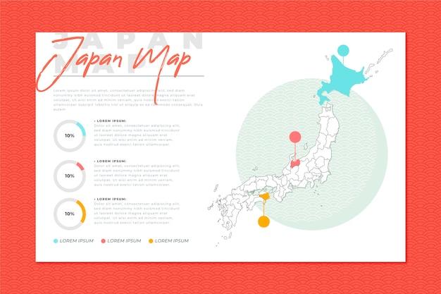 フラットなデザインで日本地図インフォグラフィック