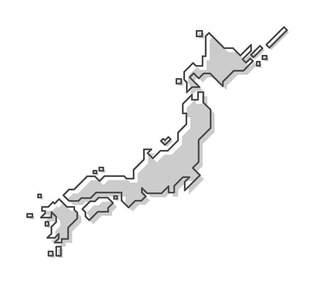 日本地図 Premiumベクター