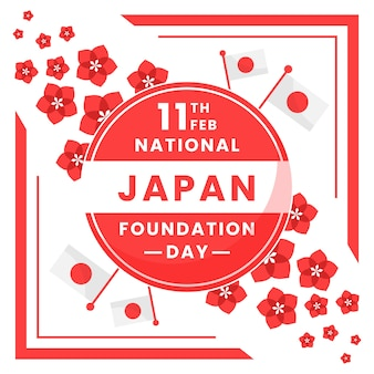 Japan national foundation day flowers