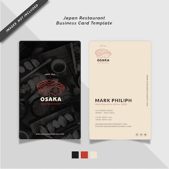 Japan restaurant business card template