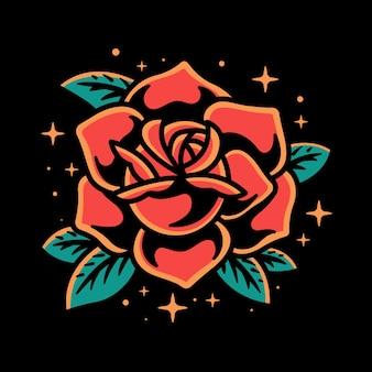 Япония роза векторные иллюстрации дизайн