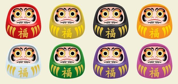 Japan's daruma doll set