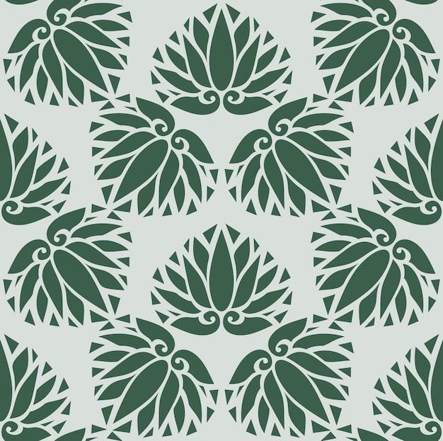 일본 스타일 디자인 꽃 기호 또는 흰색 배경에 기호 원활한 질감 또는 패턴을 나뭇잎