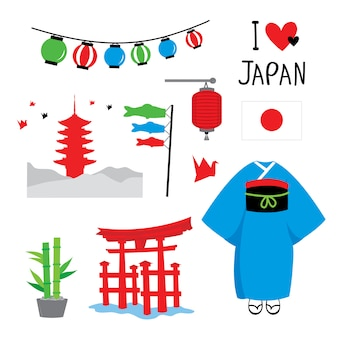 Japan tradition place travel asia vector