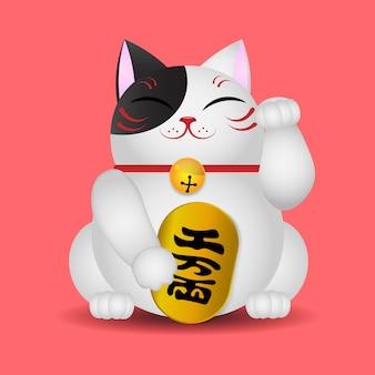 日本の猫を手にする、maneki neko